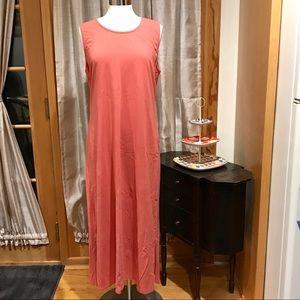 Denim & Co Peach Tank Maxi Dress Sz L